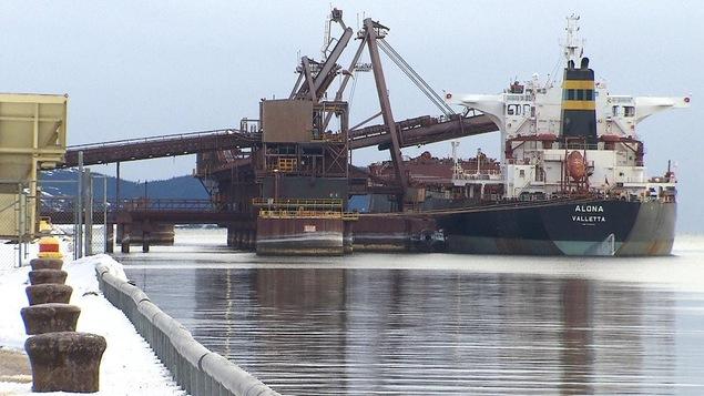 La compagnie minière IOC à Sept-Îles