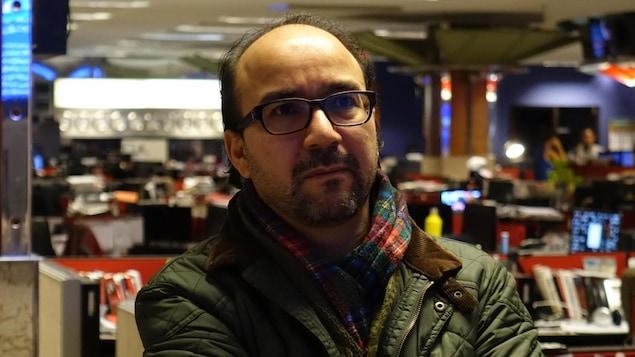 Jabeur Fathally dans les locaux de Radio-Canada Ottawa-Gatineau