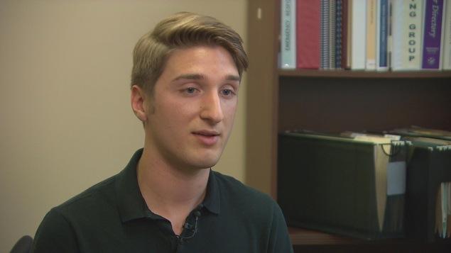 Jacob Michaud, étudiant au Centre de formation médicale du Nouveau-Brunswick