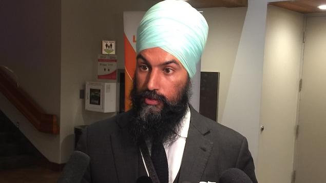 L'Ontarien Jagmeet Singh est candidat à la direction du NPD.