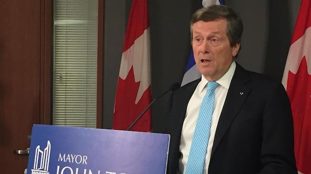 Le maire John Tory