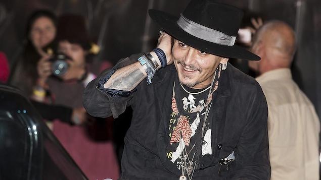 Johnny Depp au festival de Glastonbury en Grande-Bretagne