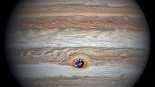 Juno a survolé la Grande Tache rouge de Jupiter