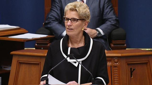 La première ministre de l'Ontario, Kathleen Wynne, s'est adressée aux membres de l'Assemblée nationale du Québec, le jeudi 21 septembre 2017.