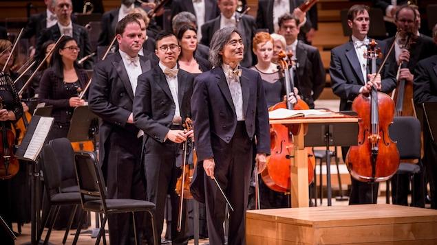 Le chef d'Orchestre de l'Orchestre symphonique de Montréal, Kent Nagano