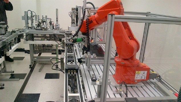 Le laboratoire de recherche et d'innovation en automatisation du Collège Red River à Winnipeg.