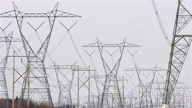 Des pylônes électriques