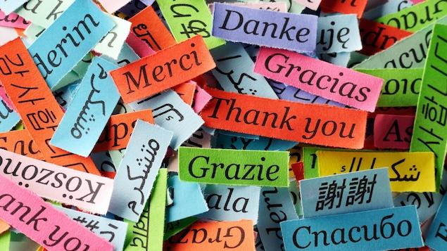 """Le mot """"Merci"""" en différentes langues."""