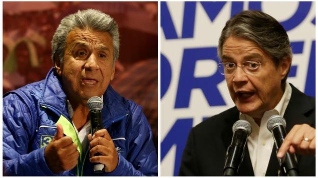 Les candidats au second tour de la présidentielle en Équateur, Lenin Moreno et Guillermo Lasso