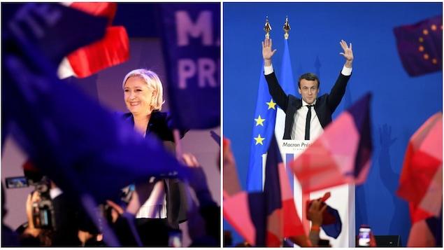 Marine Le Pen et Emmanuel Macron passent au deuxième tour des élections présidentielles françaises.