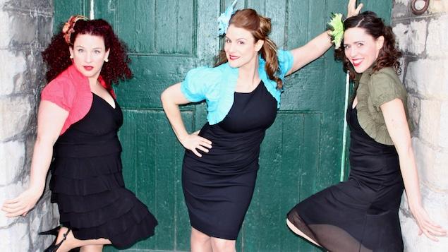 Photo des trois chanteuses : Nathalie Nadon, Julie Kim Beaudry, Geneviève Cholette