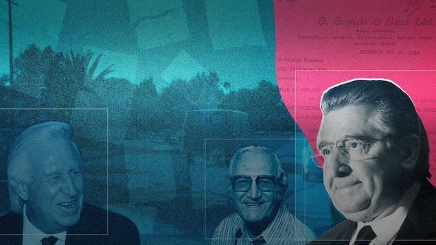 Les visages de Giuseppe Borsellino, Joe Bonanno et Lino Saputo
