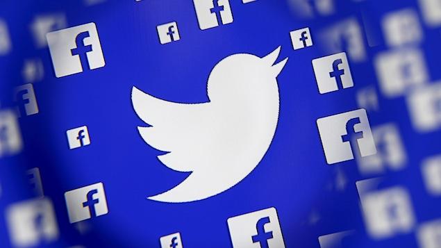 Logos de Twitter et de Facebook