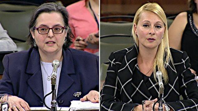 Louise Boily et Annie Trudel devant la Commission de l'administration publique
