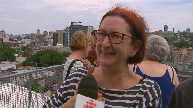Louise Lévesque, participante à la journée portes ouvertes du Centre multiethnique de Québec