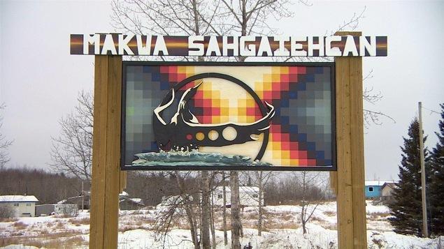 Un panneau de la Première Nation Makwa Sahgaiehcan en Saskatchewan