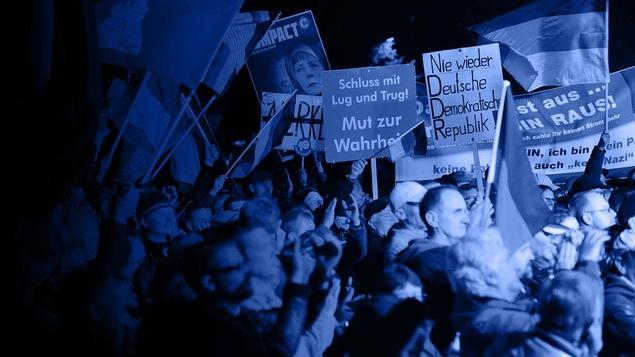 Manifestation de partis de droite en Europe