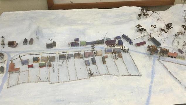 Maquette de l'ancien village des Tanneries