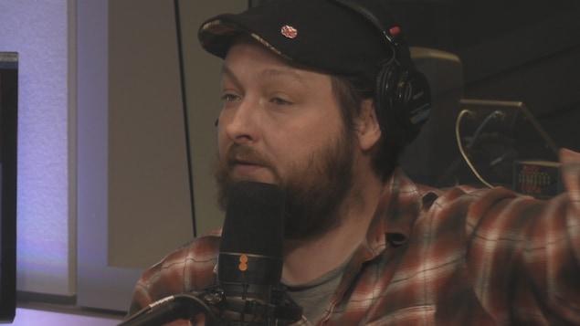 Le conteur Marc-André Fortin à l'émission Facteur matinal