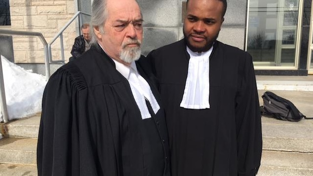 L'avocat de la défense dans le procès de Réal Savoie : Marcel Guérin.