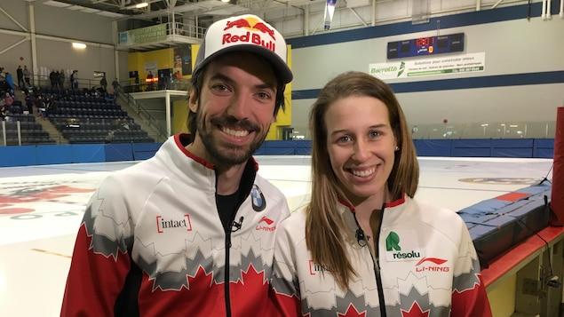 Marianne St-Gelais et Charles Hamelin à Trois-Rivières.