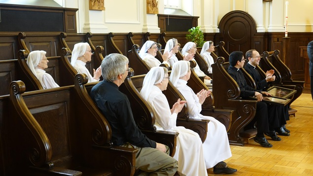 Certaines soeurs des Ursulines étaient présentes pour souligner le disque d'or d'Agnus Dei
