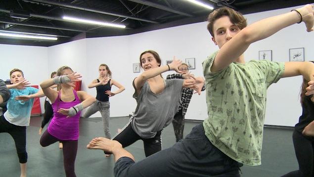 Maxime Kornachuk au studio de danse Encore à Winnipeg