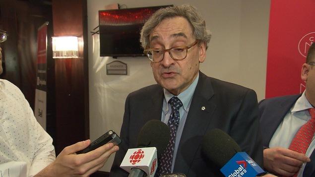 Michael Sabia, PDG de la Caisse de dépôt et placement du Québec, lors d'un passage à la Chambre de commerce du Montréal métropolitain