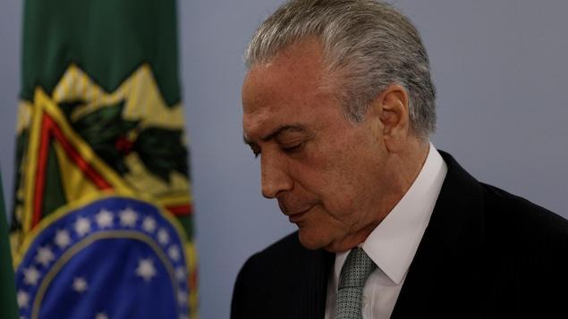 Le président du Brésil Michel Temer