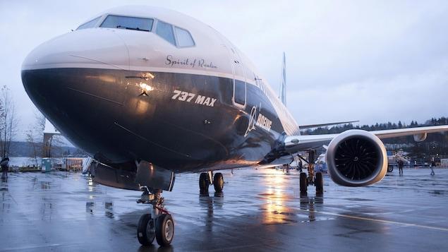 Un avion 737 MAX de Boeing