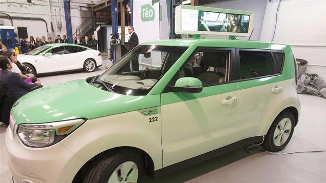Des voitures électrique de l'entreprise Téo Taxi