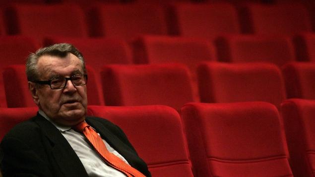 Le réalisateur tchèque, Milos Forman, participe à la cérémonie d'ouverture du 44e festival international du film de Karlovy Vary, en juillet 2009.