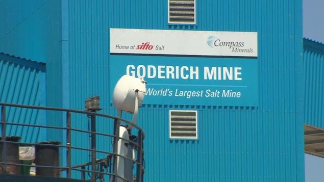 La mine de sel située à Goderich, dans le sud de l'Ontario.