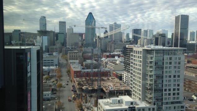 Le centre-ville de Montréal en construction