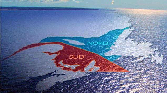 Carte qui décrit l'état des stocks de morue dans le golfe du Saint-Laurent