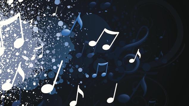 Illustration de notes de musique