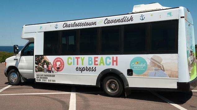 La navette touristique City Beach Express à l'Île-du-Prince-Édouard.