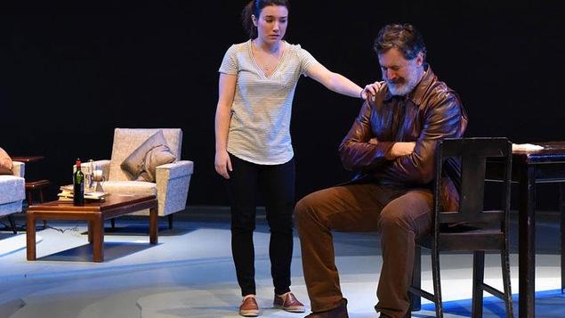 Marie-Ève Milot et François Papineau dans la pièce «Ne m'oublie pas»