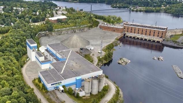 Le site de l'usine Nemaska Lithium à Shawinigan