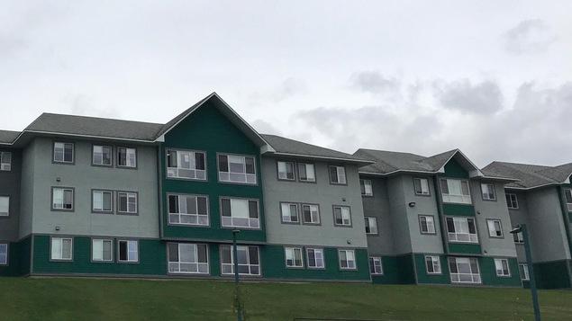 Un bâtiment de la résidence de l'université Northern BC à Prince George en Colombie-Britannique
