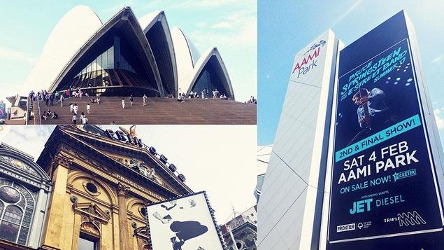 L'Opéra de Sydney et le AAMI Park et le Princess Theatre de Melbourne