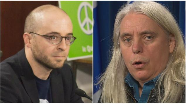 Sol Zanetti d'Option nationale et Manon Massé de Québec solidaire