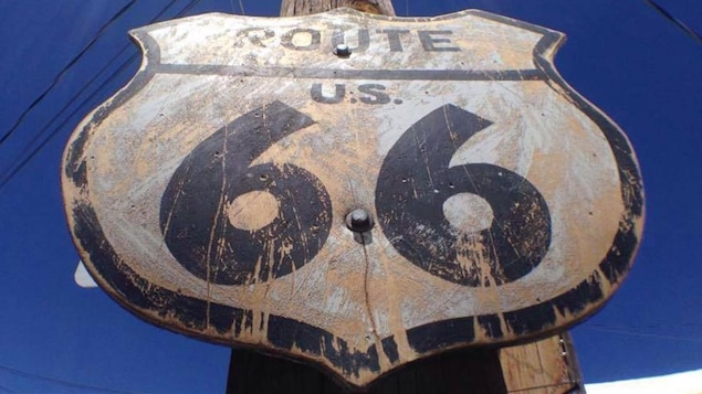 Un panneau original de la Route 66