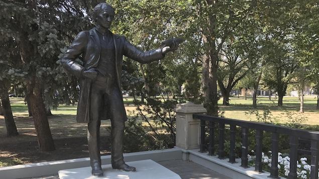 La statue de John A. Macdonald au parc Victoria à Regina