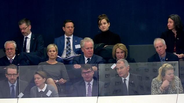 Une délégation québécoise était présente lors du discours de Justin Trudeau au Parlement européen.