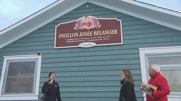 Le pavillon Josée Bélanger inauguré à Coaticook