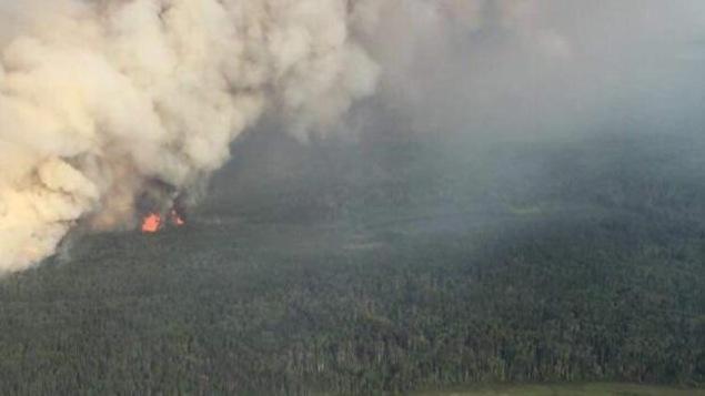 Feu de forêt en Saskatchewan (archives)