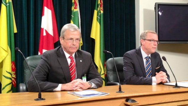 Peter MacKinnon et Brad Wall.