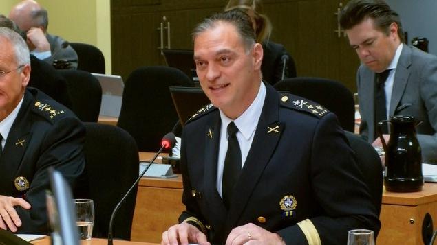 Le chef du SPVM, Philippe Pichet