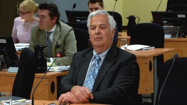 Pierre Frenette, lors de son témoignage à la commission Chamberland